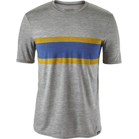 Patagonia M's Capilene Daily Graphic T-Shirt Rugby Stripe: Feather Grey